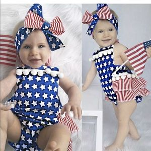 Other - 4th of July romper New with tags